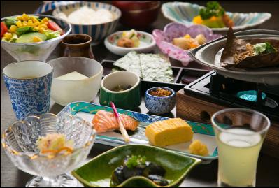 美味しいお米とごはんに合う郷土料理を味わう朝食