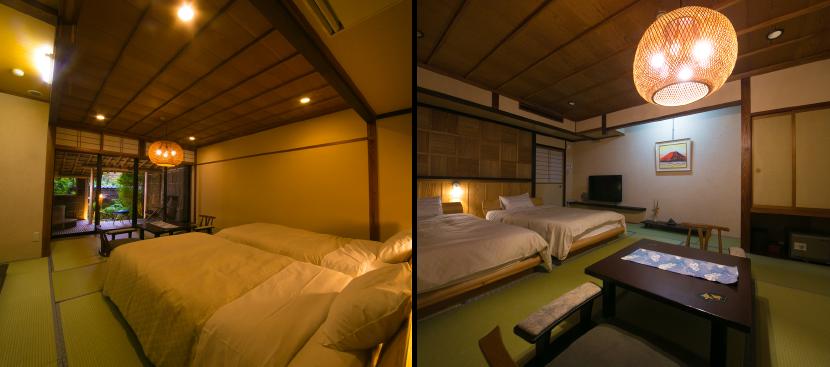 最低限のプライベートを保つため、部屋は2部屋確保